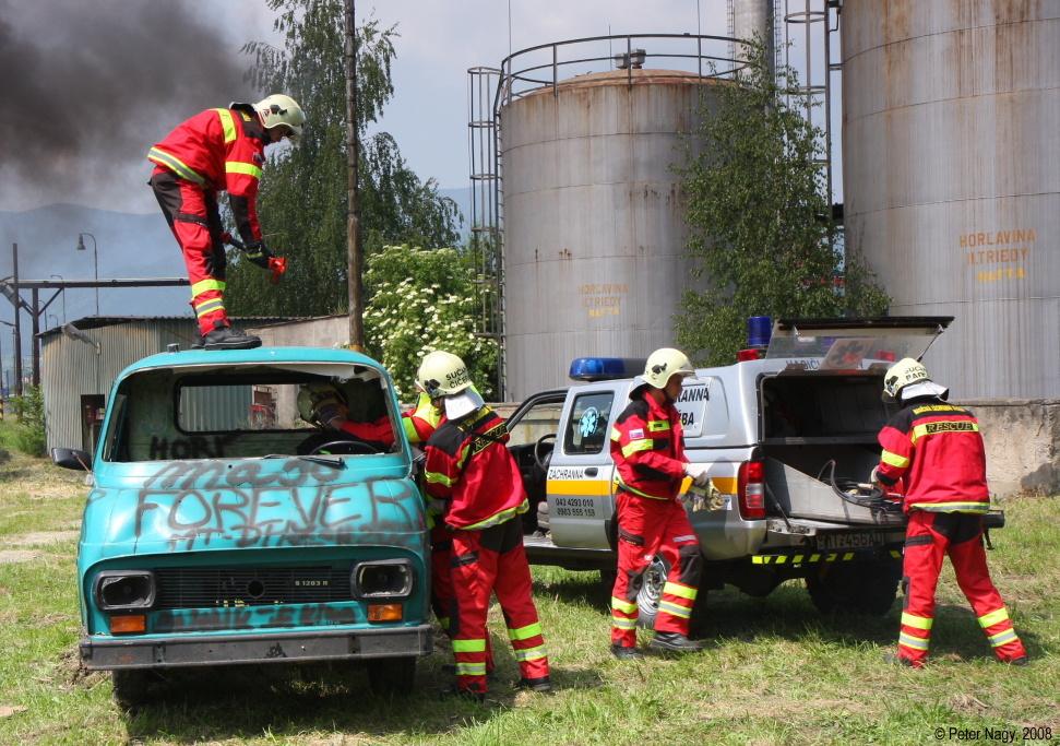 Ukážka zásahu hasičov