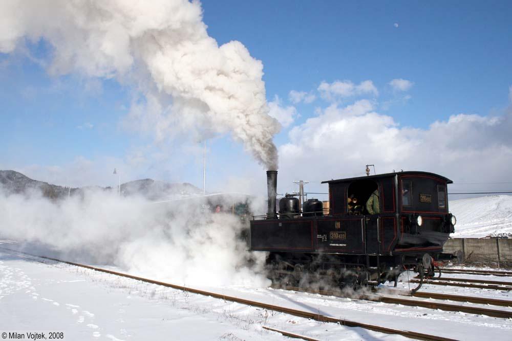 Rozlúčka s rušňom 310.433 - odjazd zvláštneho vlaku z Oravského Podzámku