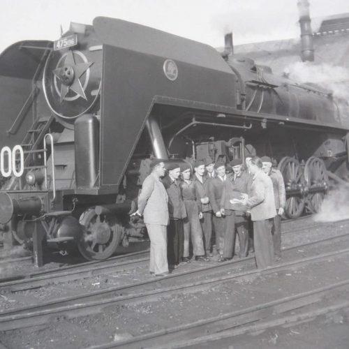 Rušeň 475.196 po dodaní do Rušňového depa v Žilina v roku 1951