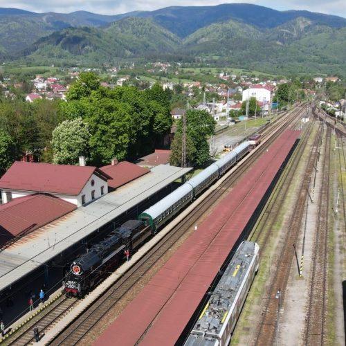 Zvláštny vlak pred odchodom z Vrútok. Foto: Michal Feik