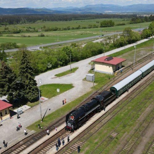 Zvláštny vlak v Hornej Štubni. Foto: Michal Feik