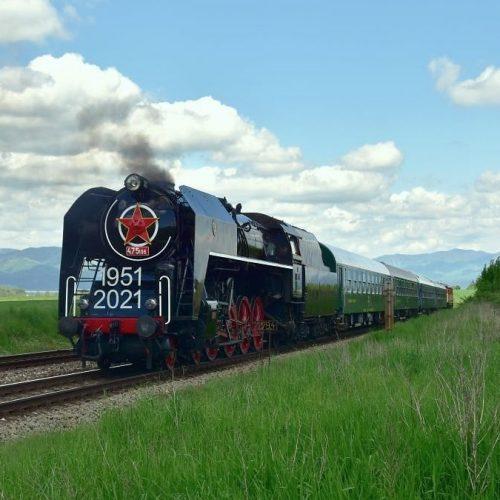Zvláštny vlak pri spiatočnej ceste