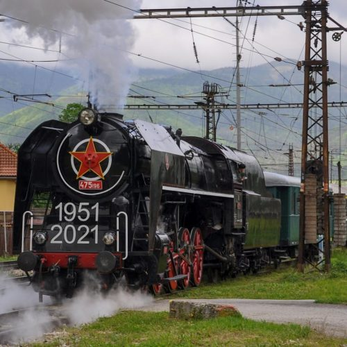 Odchod súpravy zvláštneho vlaku z RD Vrútky