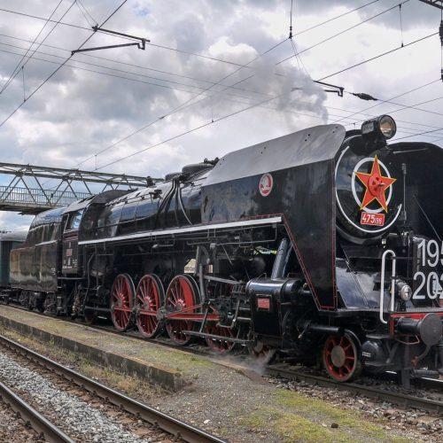 Súprava osobitného vlaku v stanici Zvolen, nákl.st. Foto: David Gavalier