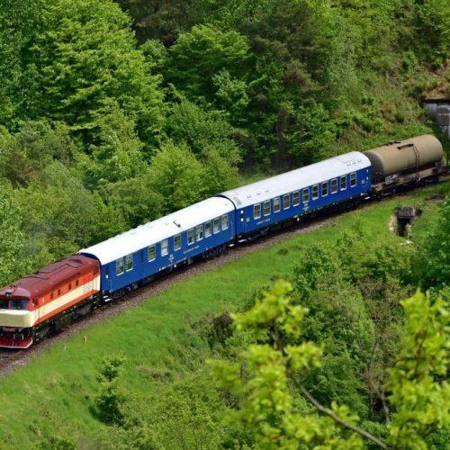 Požiarny vlak (Sv 31910) na spiatočnej ceste do Vrútok