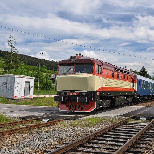 Požiarny vlak Sv 31910 pri prejazde Hornou Štubňou. Foto: David Gavalier