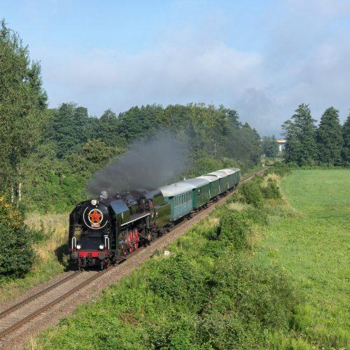 Osobitný vlak 31263 so 475.196, medzi výhybňou Pstruša a zast. Stožok